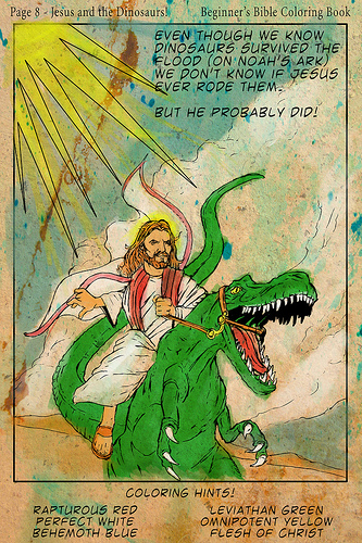 jesus riding raptor