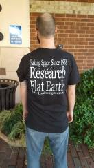 Friendly flat earther's promotional T-shirt. Get on it.